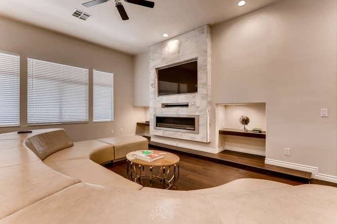 Built-in Fireplace and Entertainment