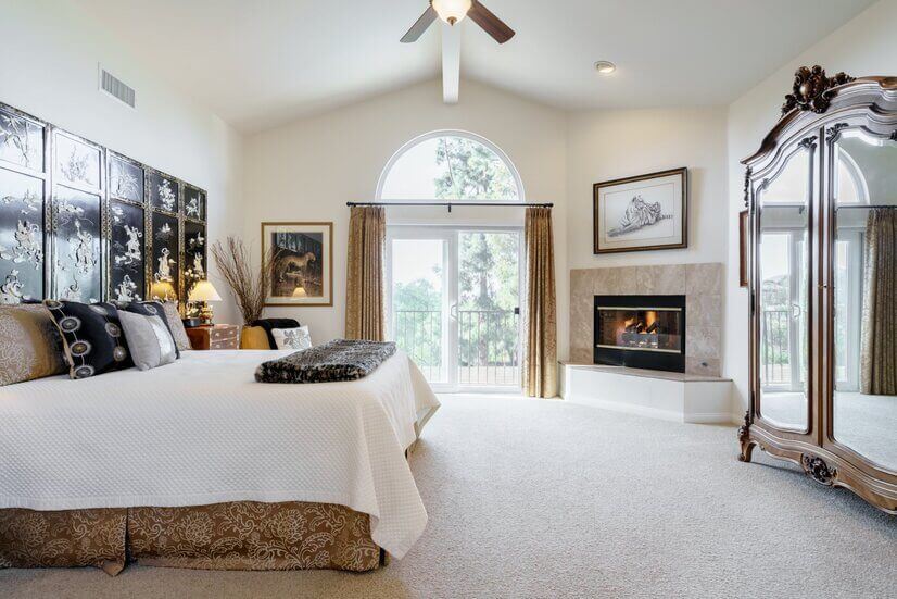 Large private king master bedroom
