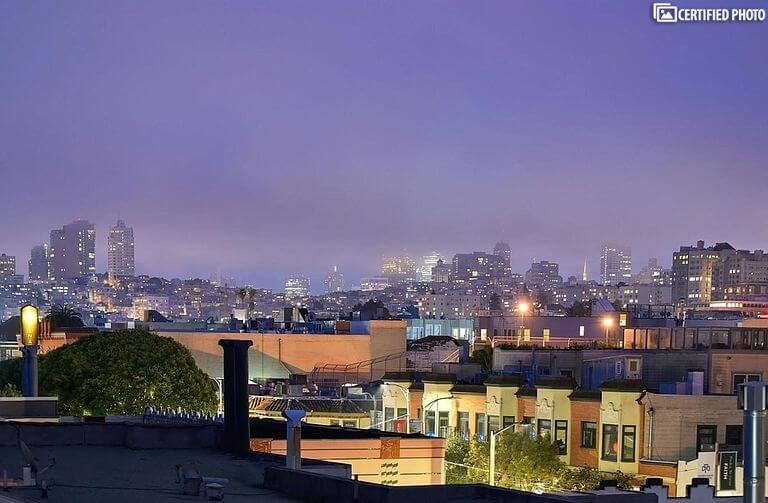 From Deck, SF by Night ...