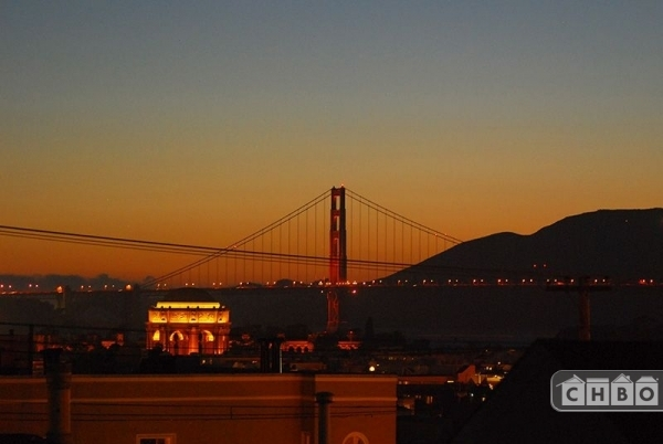 Our apartment has stunning views of the Golden Gate Bridge