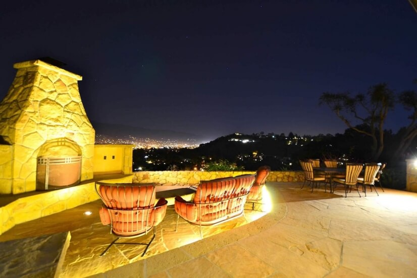Firepit and night view
