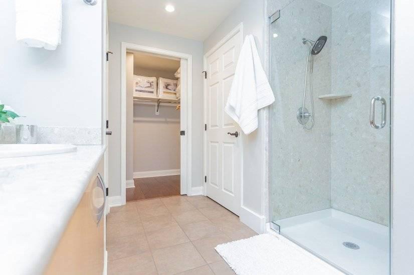 Master shower & walk-in closet