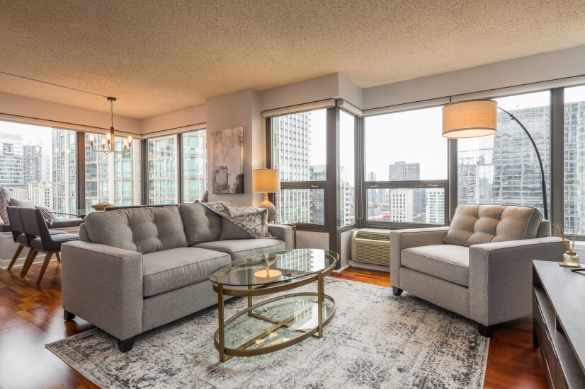 Two Bd Condo 1 block from Michigan Ave
