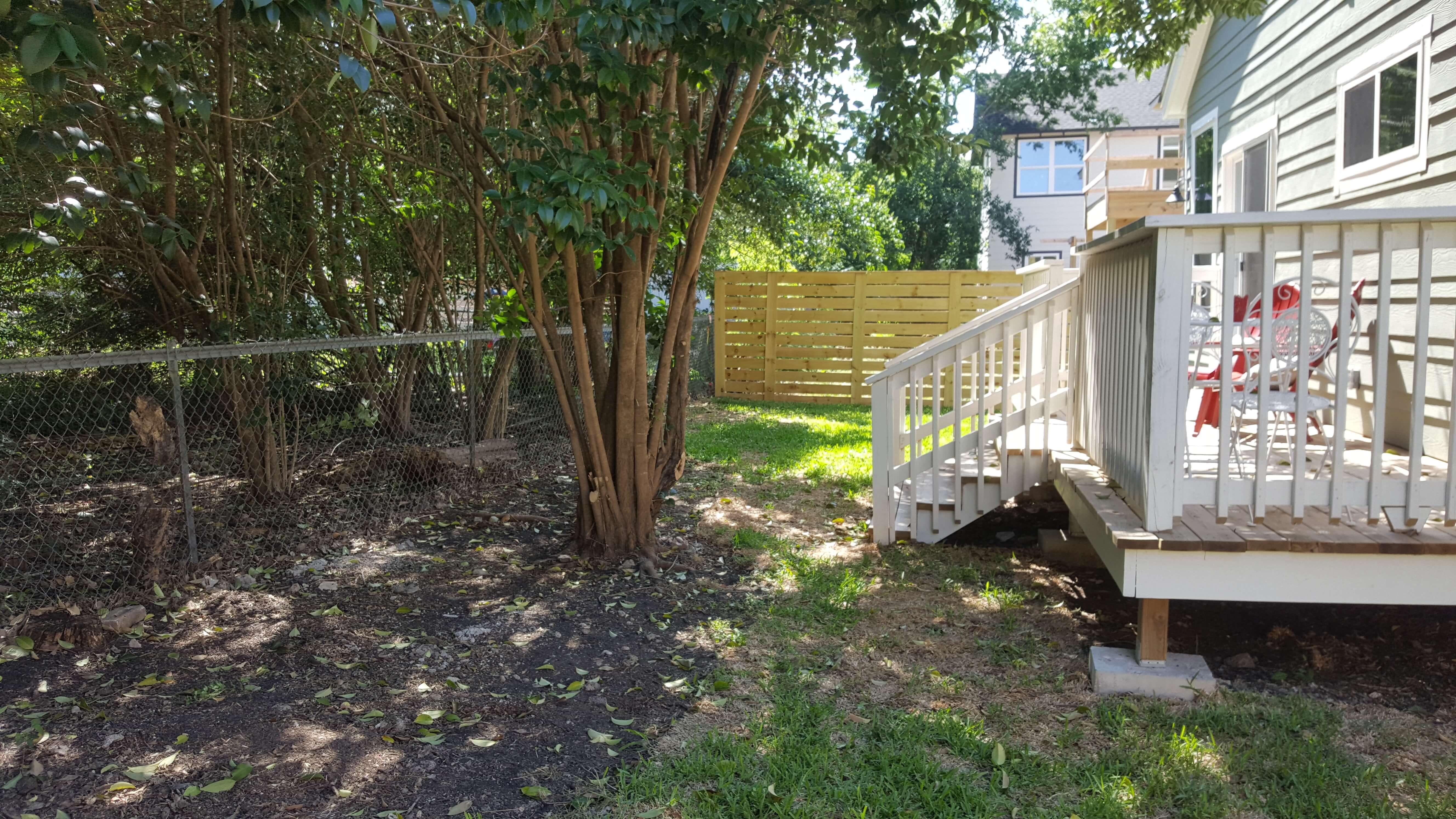 Back Yard Fenced