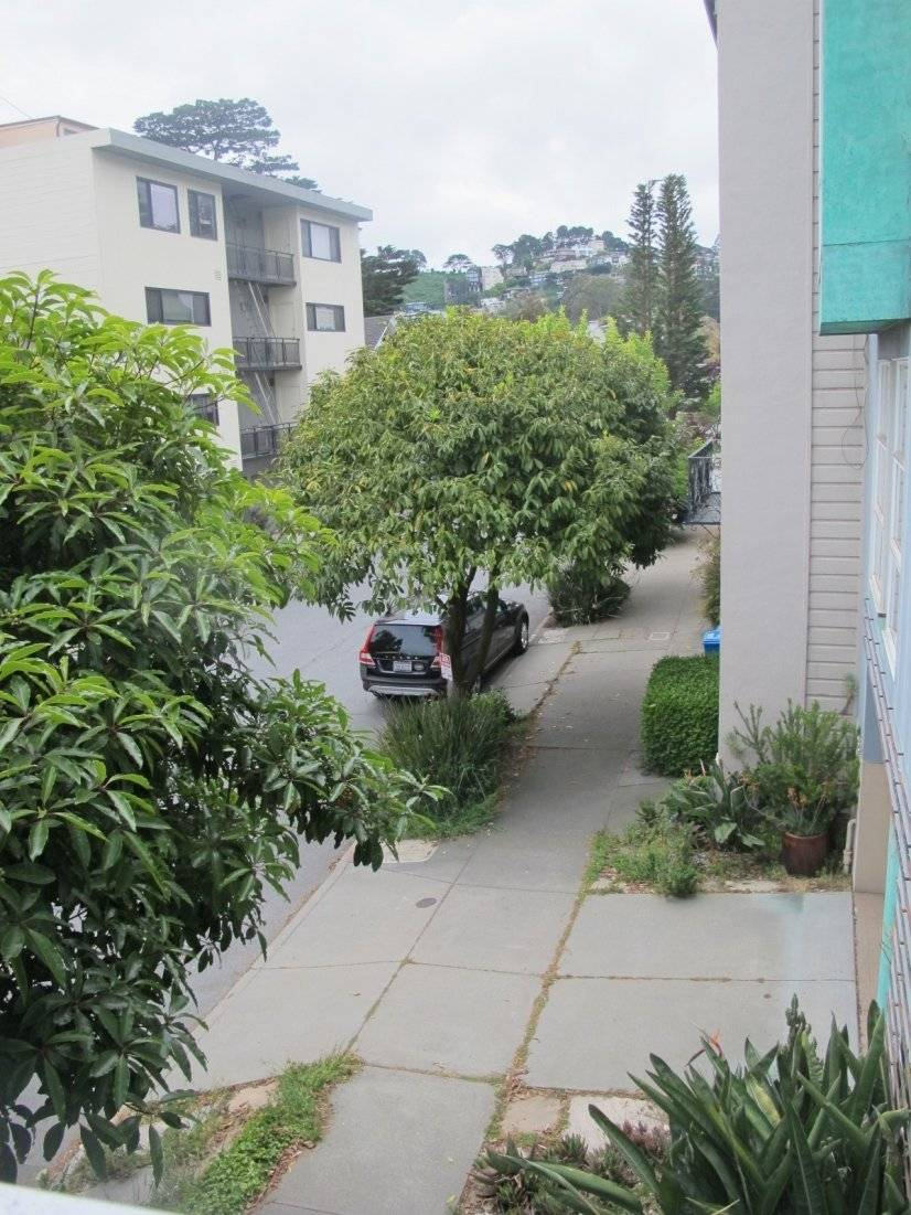Apt is situated on 1st floor; view from Deck