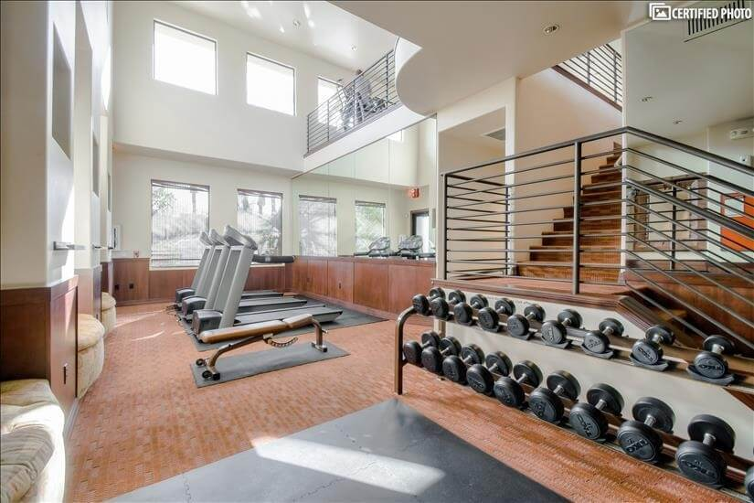Multilevel Fitness Center with Weights