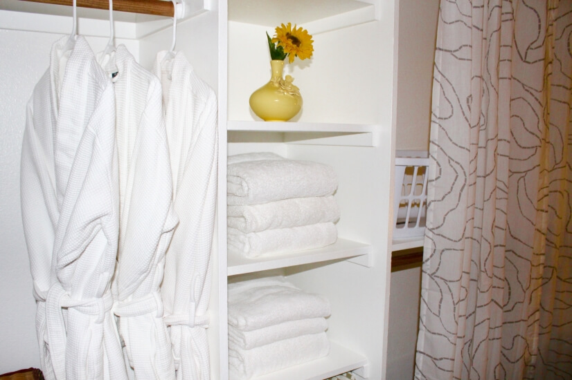 Comfortable towels and linens