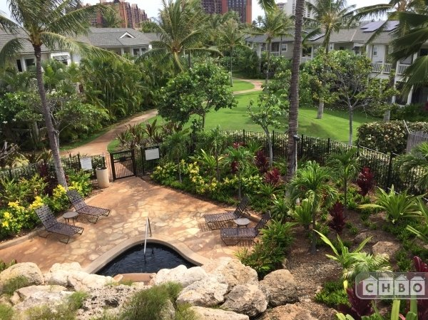 Lanai view overlooking the hidden spa