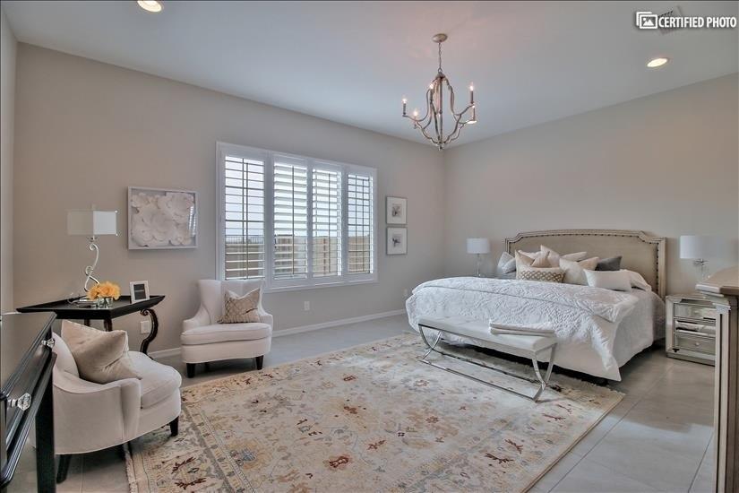 Elegant Master Bedroom with king size bed.