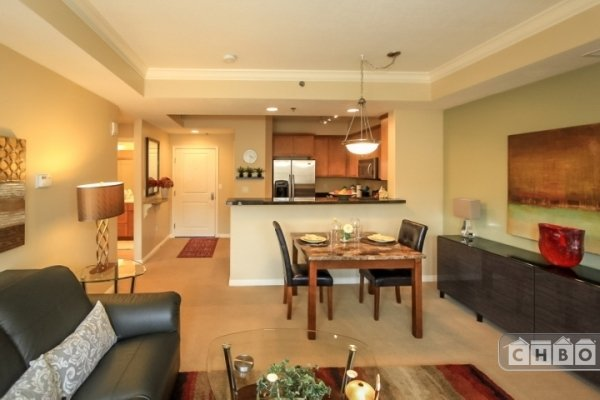 Living, dining, kitchen & entry