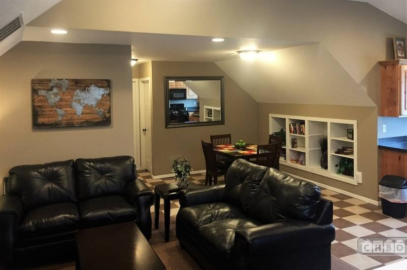 Open Plan with new cozy couches.