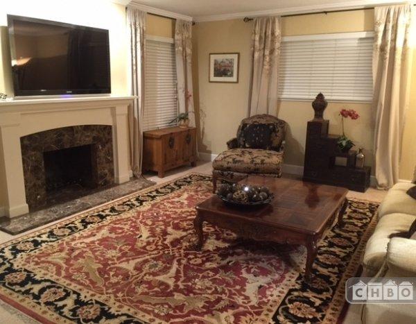 Furnished Living Room with custom furnishings