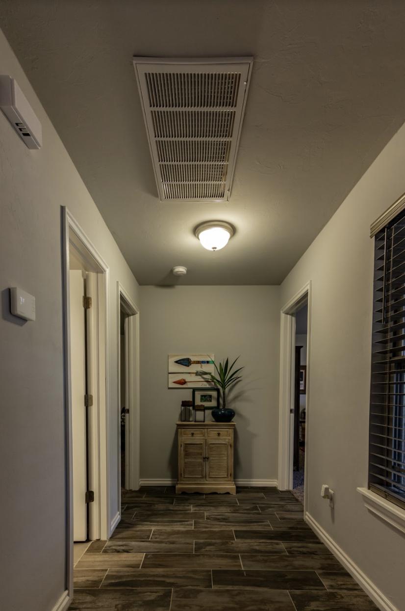 Hall to Bedroom & Bathroom
