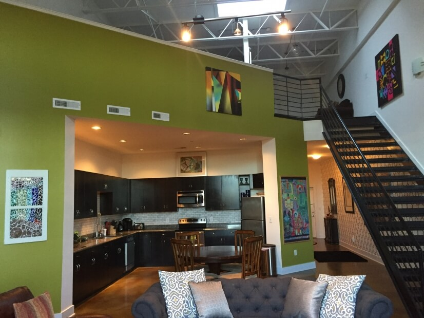 uptown charlotte spacious luxury loft furnished loft for rent in