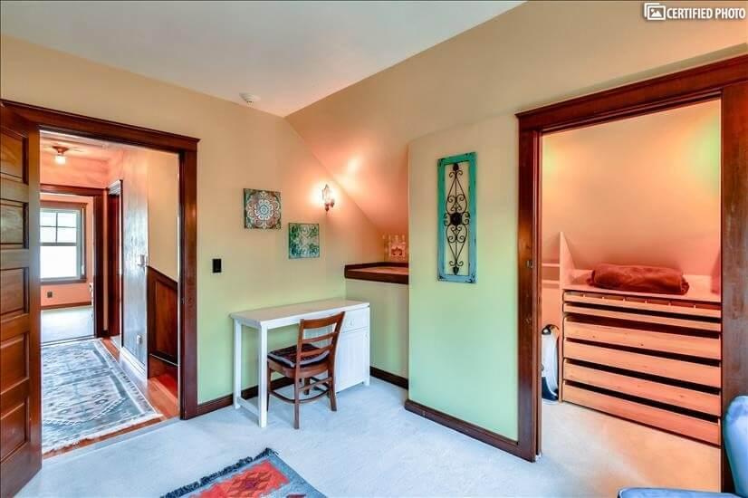 Second upstairs bedroom closet