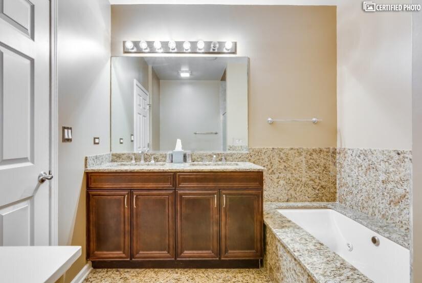 Master Bath includes designer upgraded cabinetry