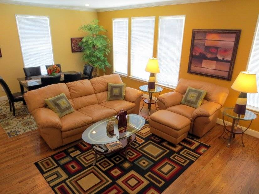 Furnished Living area on 2nd level. Houston Corporate rental