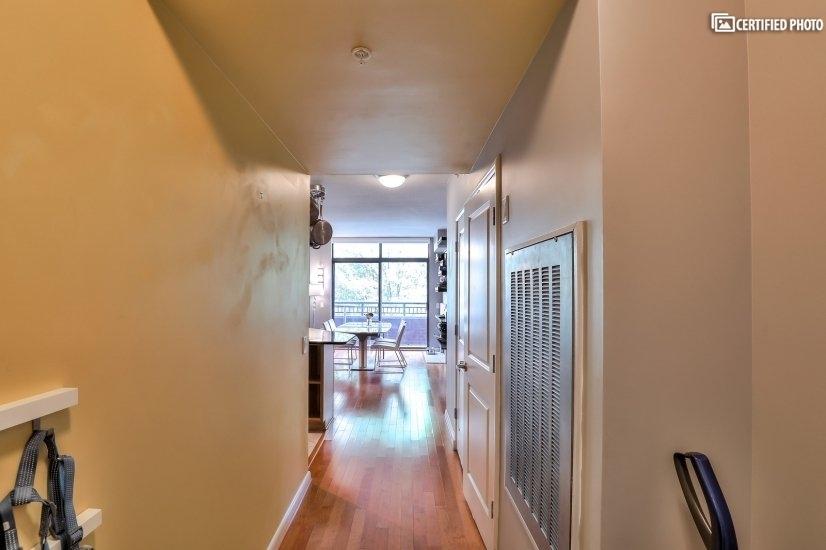 Entrance hallway into condo