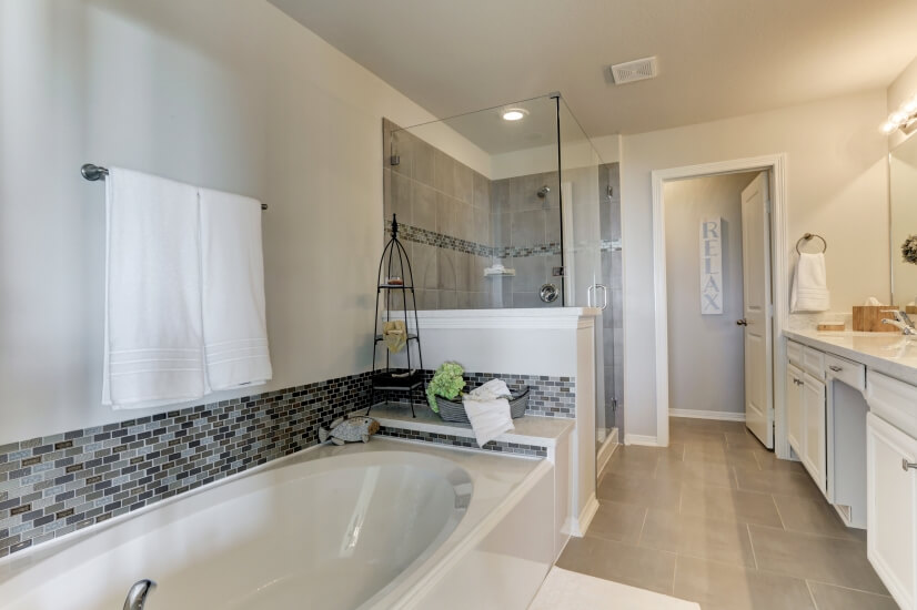 Spa luxury in the master bath.