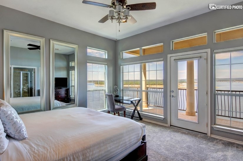 Master suite with views to the lake