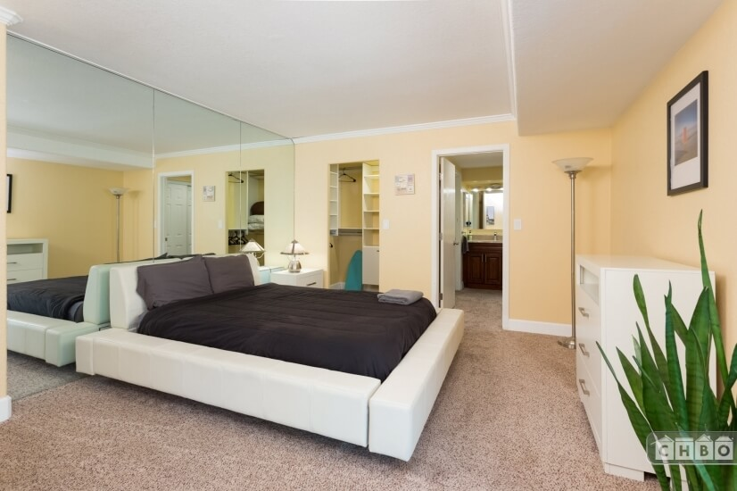 Master Bedroom Walk in Closet View