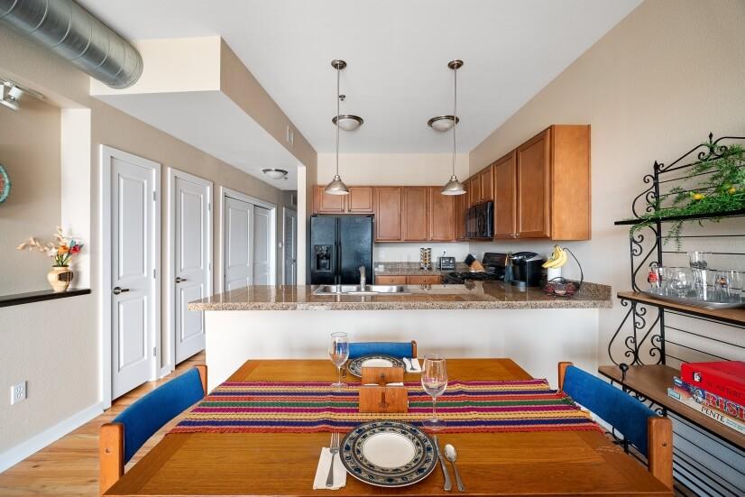Open floor plan for main living areas.