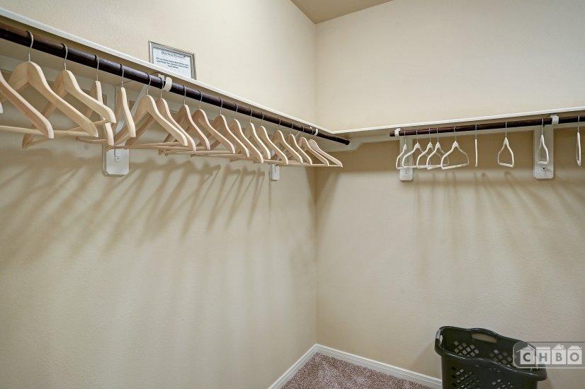 Large walk-in closet in master