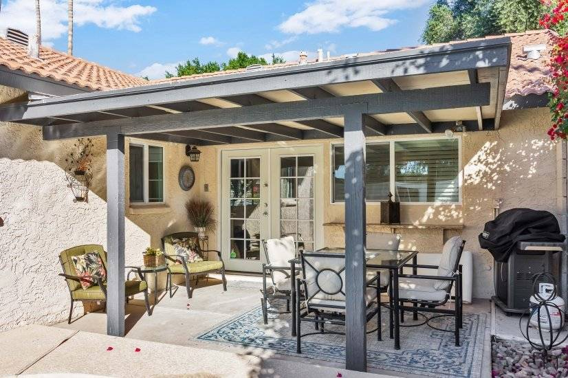 Large Covered Patio Centerpiece Of The Backyard Oasis