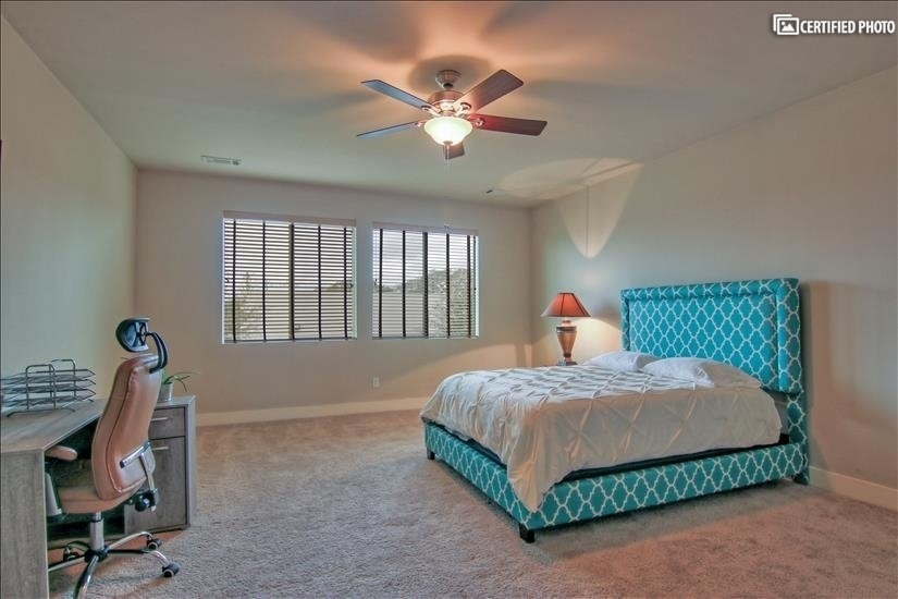 Oversized master bedroom with convenient home office!