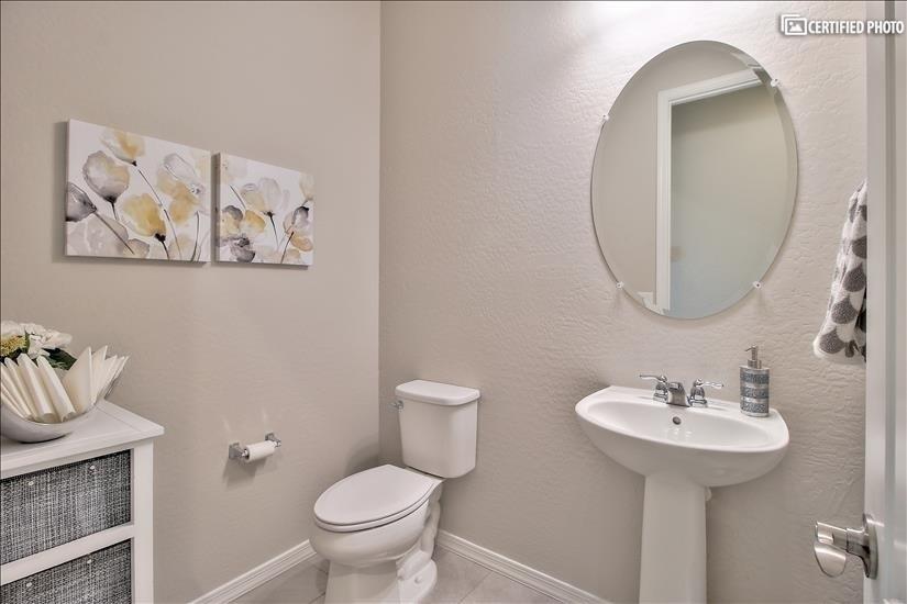 poweder room 1/2 bath.