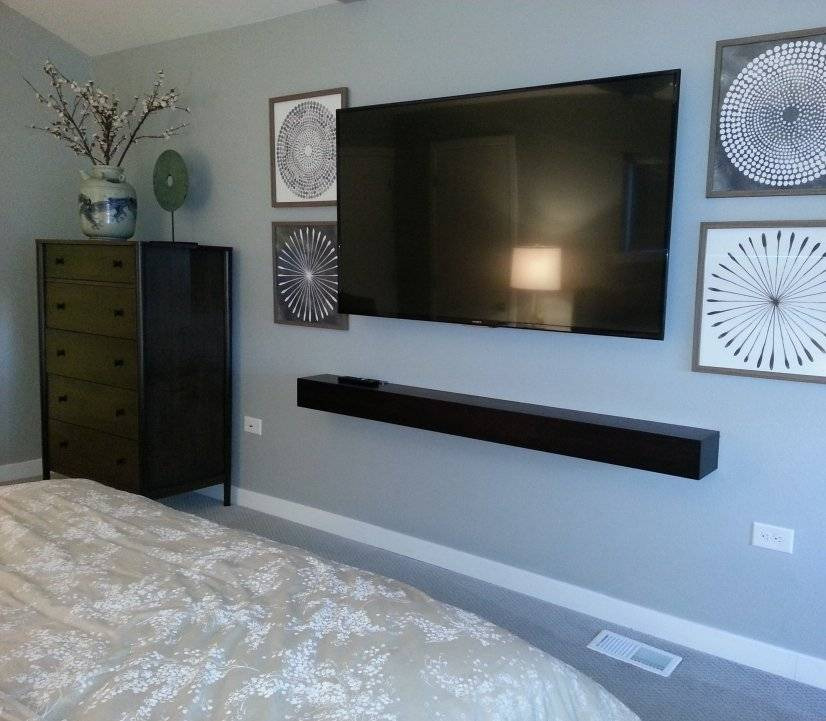 Loft bedroom TV