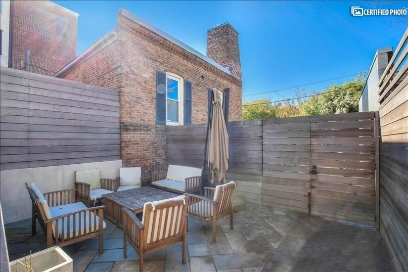 Fully-fenced backyard