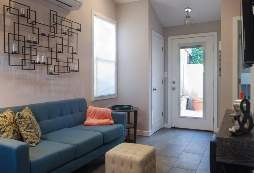 Natural light flows through living room