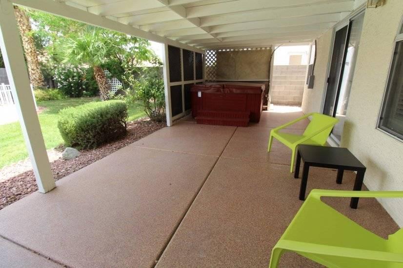 Back yard patio and hot tub