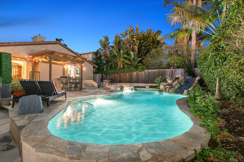 Pool and Spa with BBQ Area.