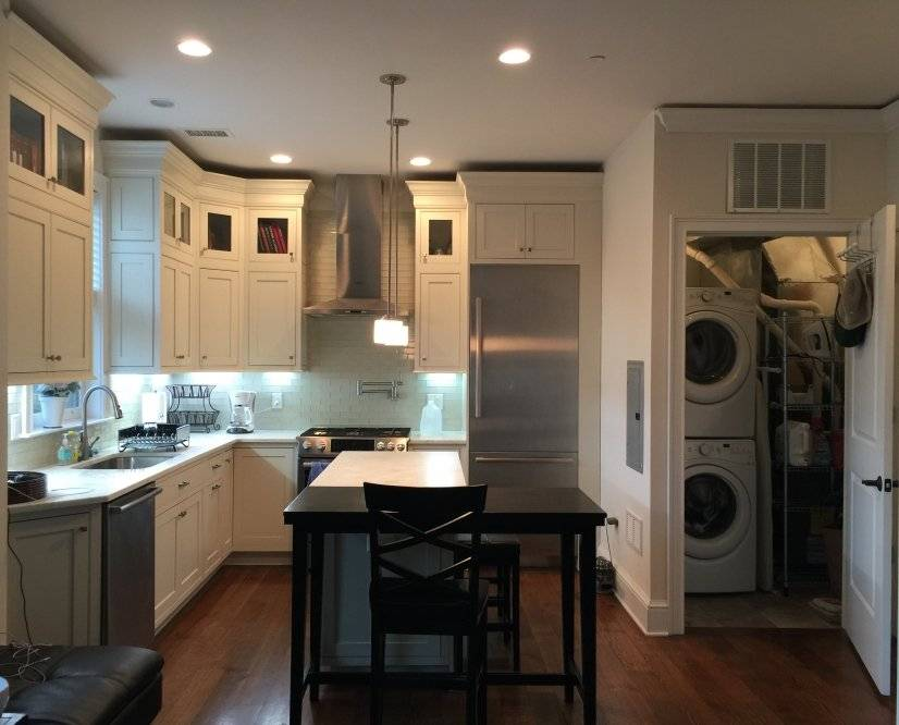 Open Kitchen with Laundry/Utility Rm