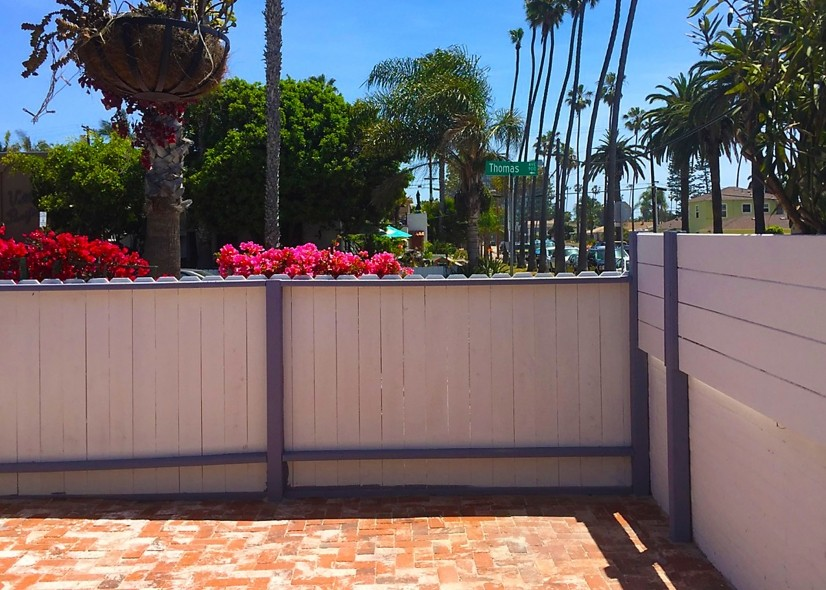 Lovely private backyard with custom brickwork