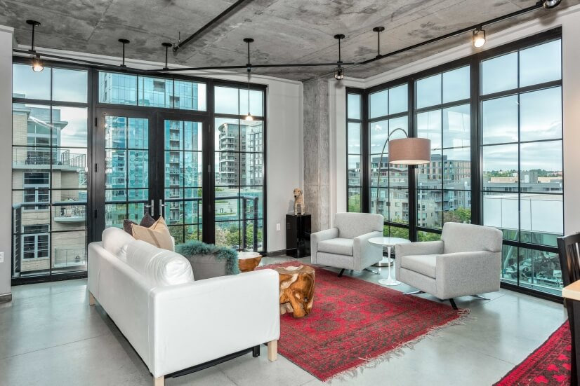 Penthouse Pearl District Corner Loft