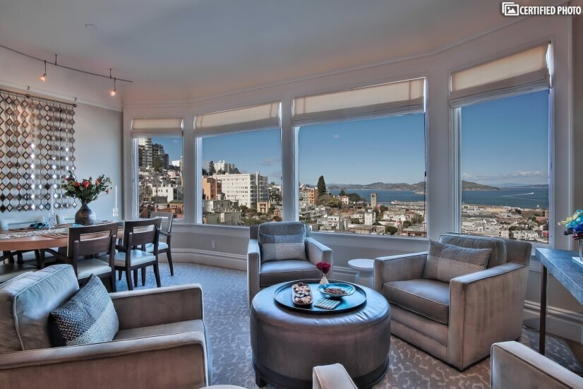 Furnished Russian Hill - Panoramic Views