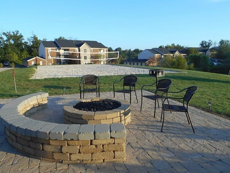 Fire Pit and Sand Volleyball