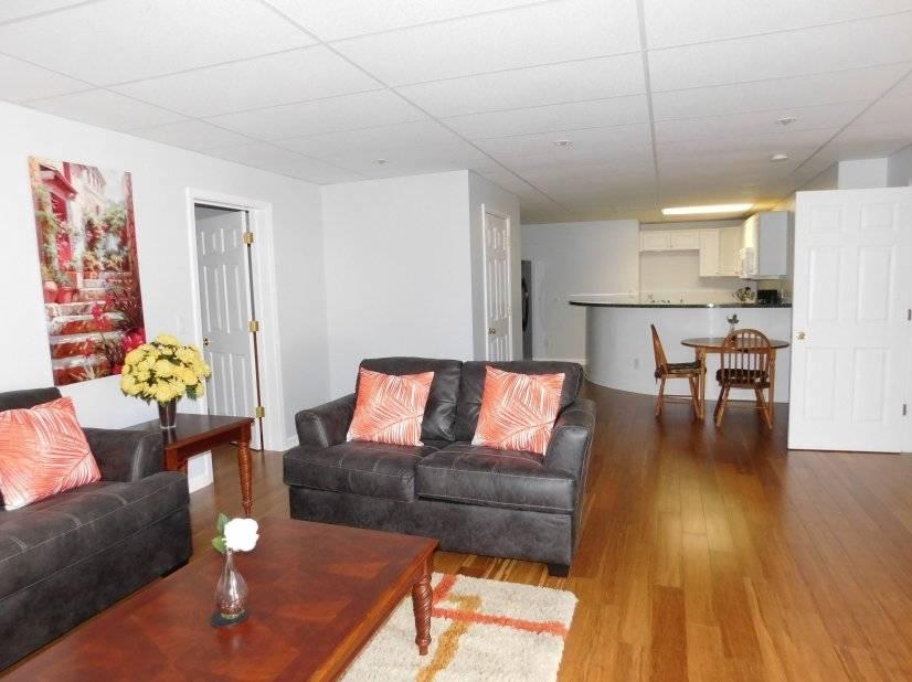 Large open floor plan living room/kitchen
