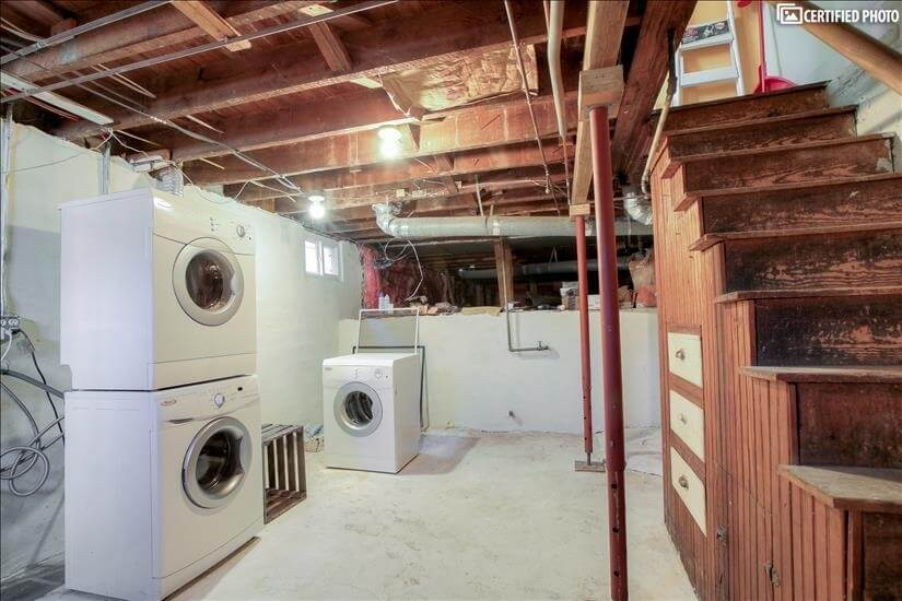 Basement - washer and dryer