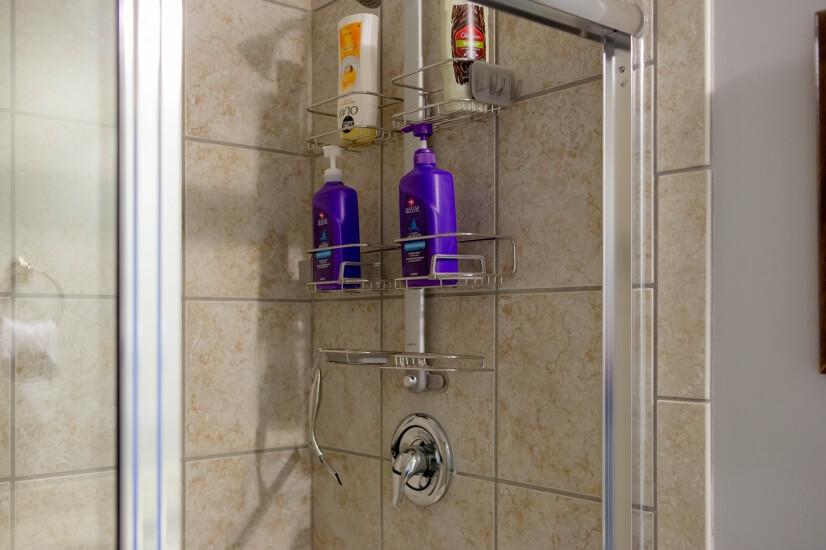 Shower, shampoo, conditioner, body wash