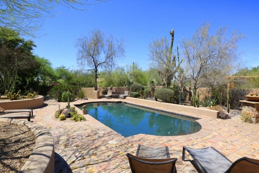 Very private backyard with separate Pool and
