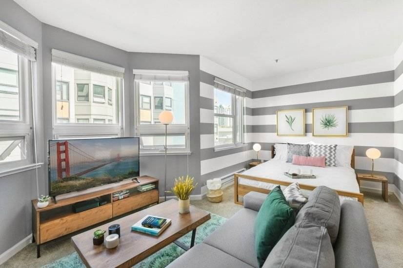 Furnished, Lower Pacific Heights Studio