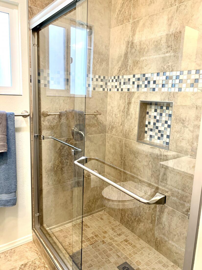 Beautiful newly remodeled shower!