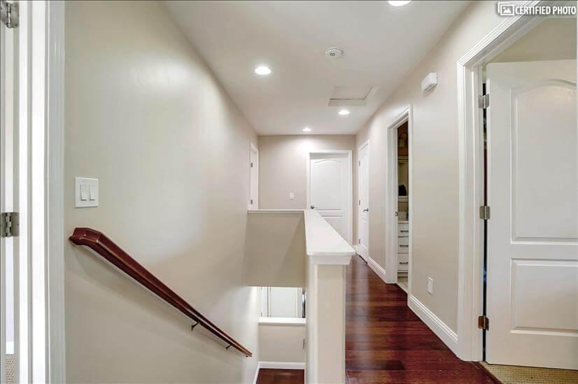upgraded engineering wood flooring staircase