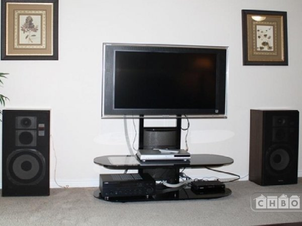 Large Flat Screen Television In Living Room