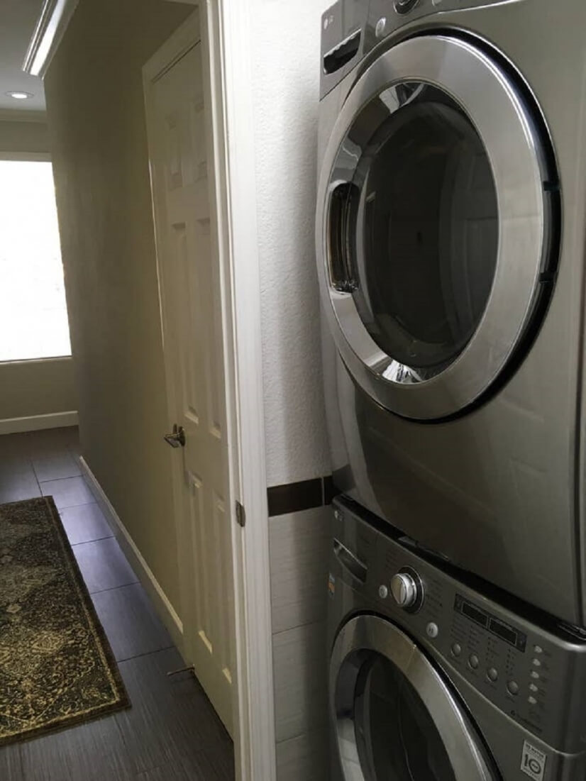 1st floor laundry  LG Front loading Truesteam washer and dry