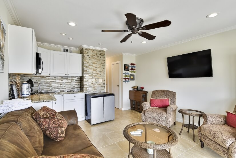 Many units offer updated appliances & furniture.